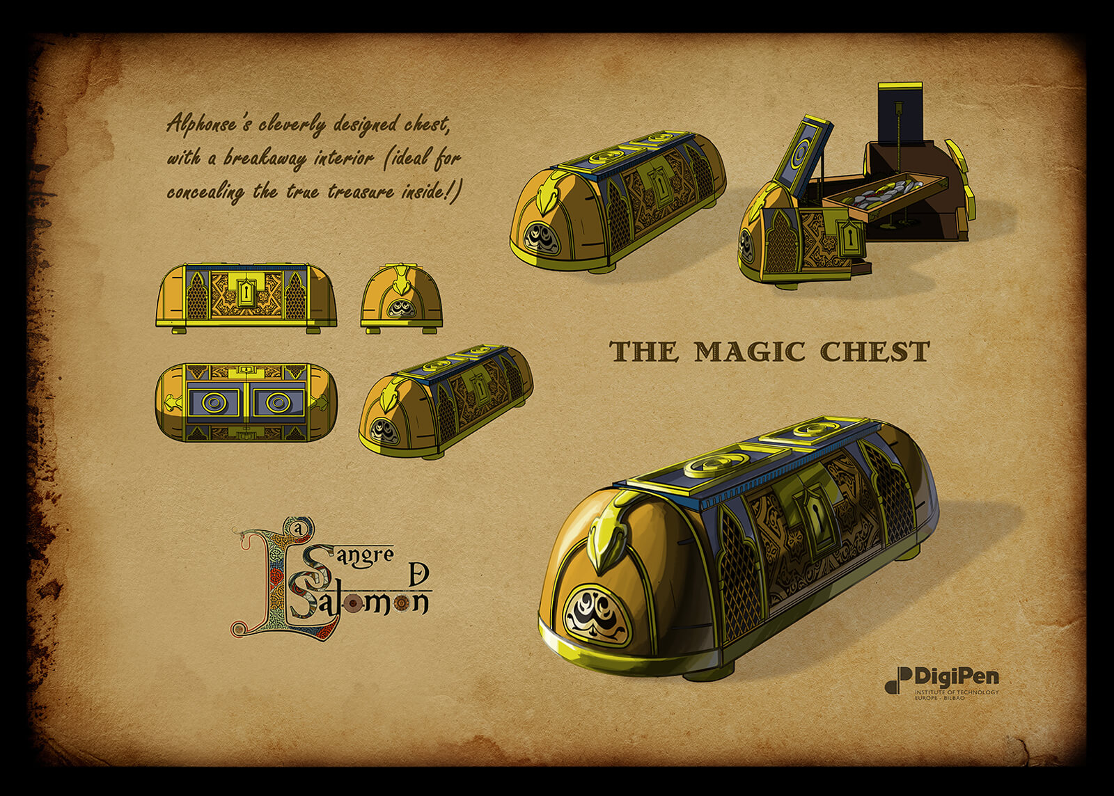 Concept paintings of Alphonse's Magic Chest