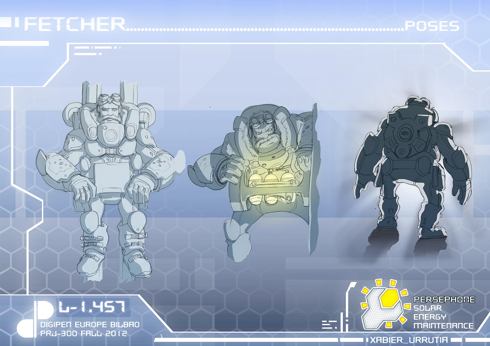 Various poses of main character Fetcher