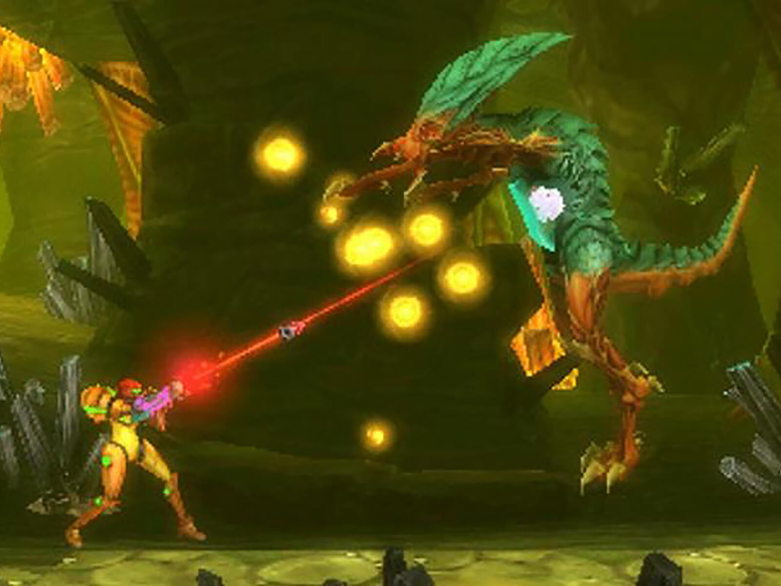 Screenshot from Metroid: Samus Returns